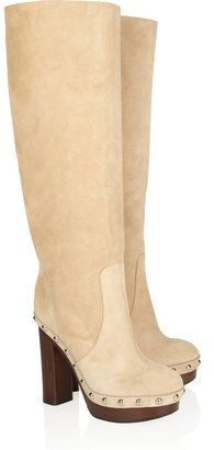 f78ad79b0834 ShopStyle  Michael Kors Suede knee boots