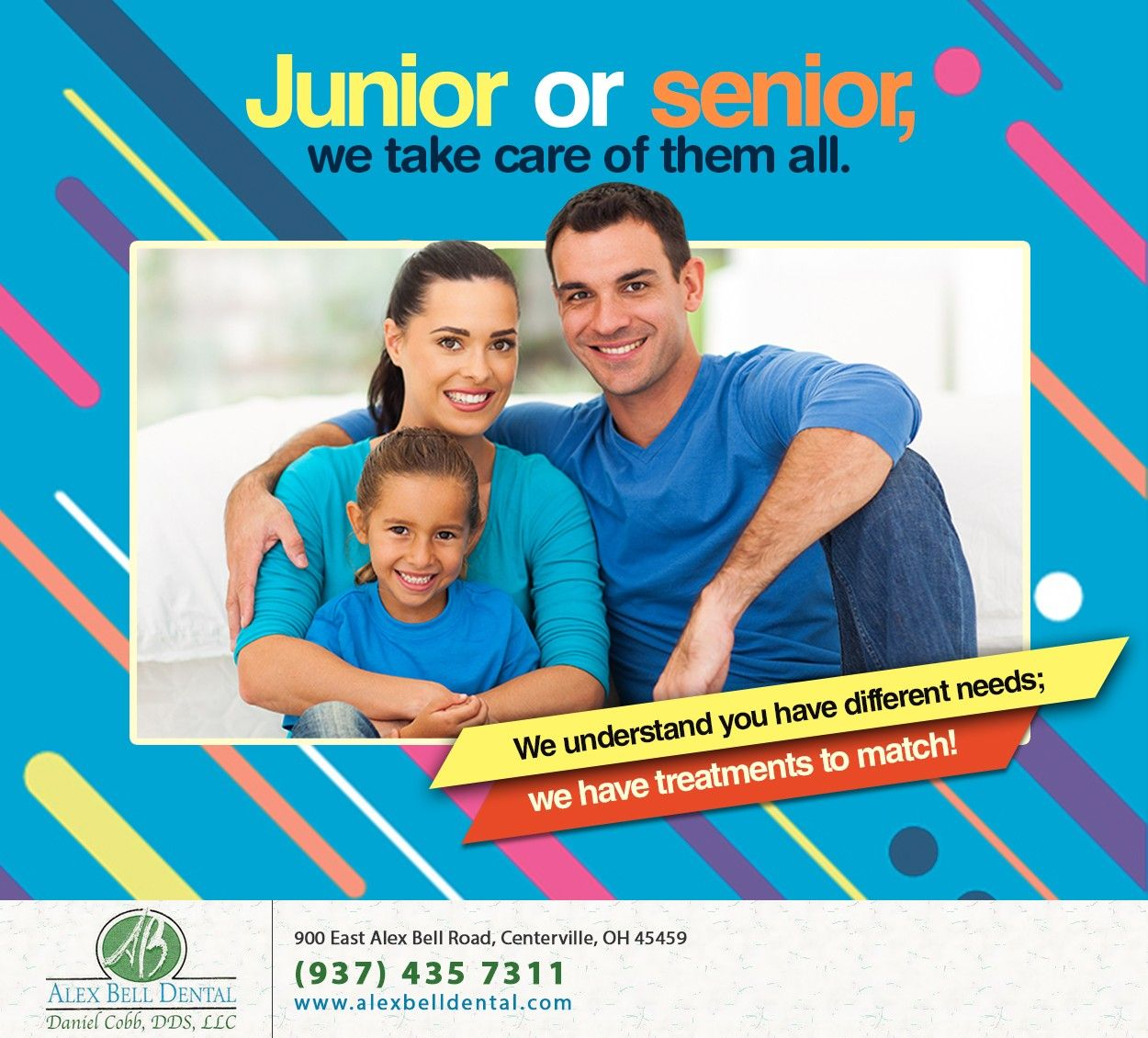 As a family dentist we care for the oral health of every