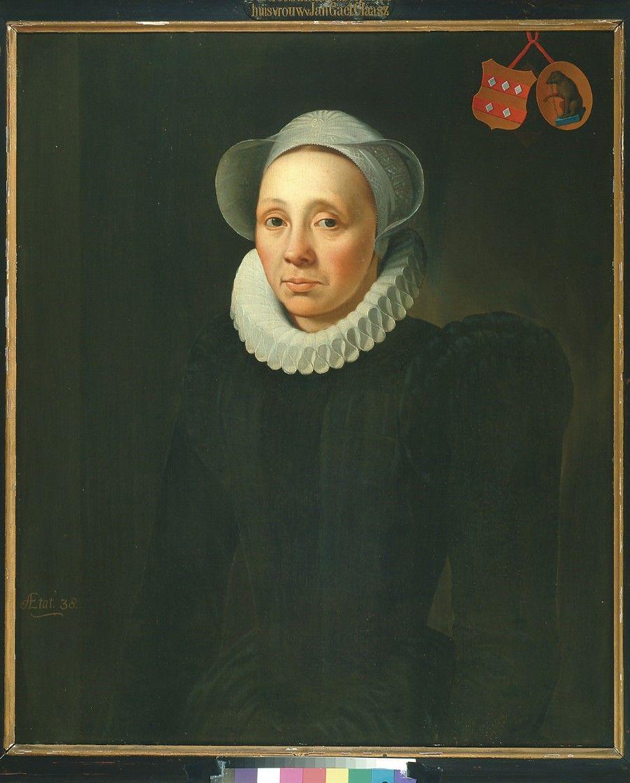 Anoniem Hollands Портрет Erminia Cornelisdr Van Beresteyn 1582 79 5x61 4cm Дерево масло