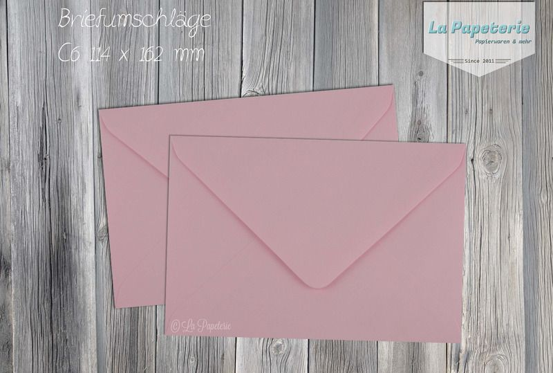 10 Briefumschläge C6 rosa von La Papeterie auf DaWanda.com