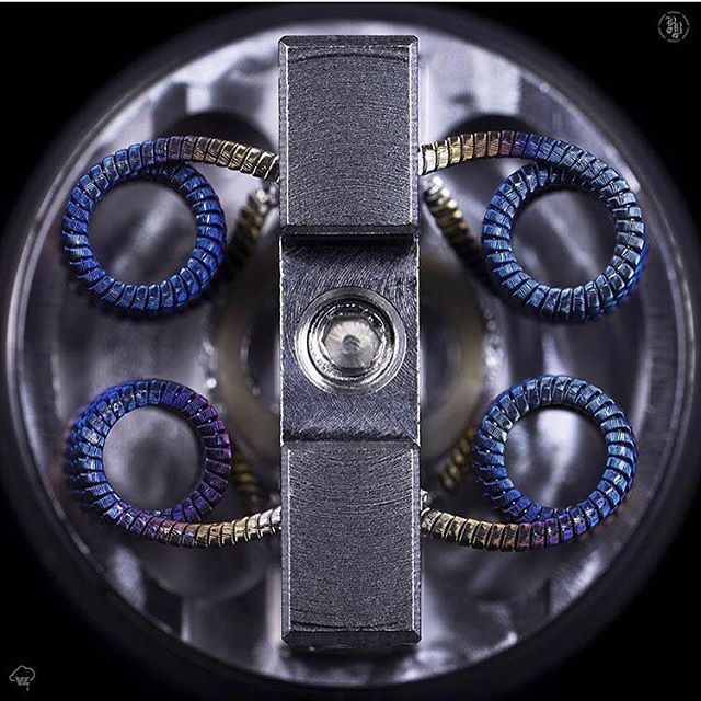 Quad Vertical Fused Ribbon Clapton Builder: @vapelater #coilarchitects…
