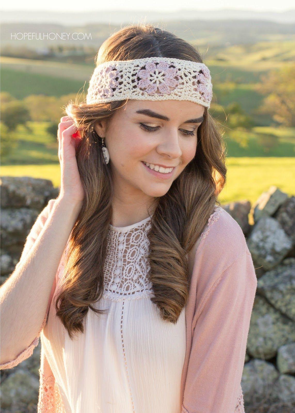 Orchid Lane Bohemian Headband - Crochet Pattern by | Apliques ...