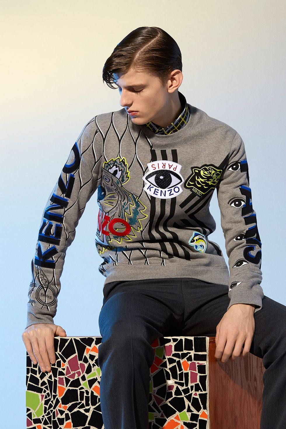 2c76e9c05289 Just in  Kenzo Multi Icons Sweatshirt Kenzo Homme, Vêtements Homme, Mode  Homme,