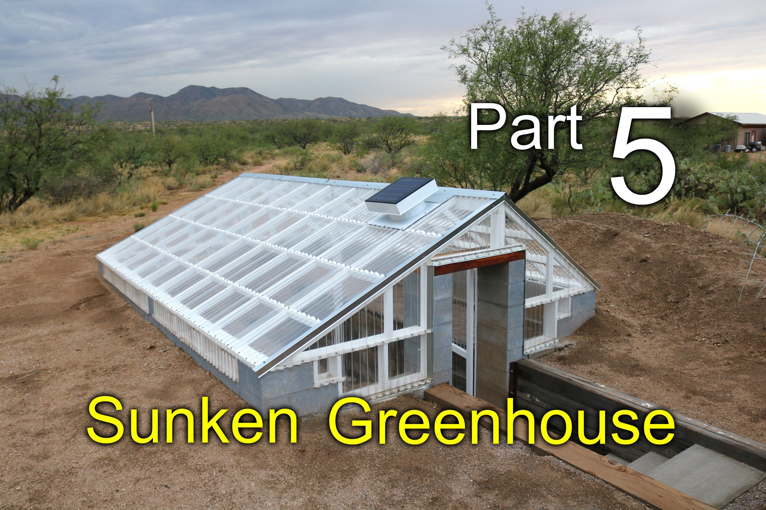 sunken greenhouse part 5 ventilation remington solar wind diversion gardeningdifferentways. Black Bedroom Furniture Sets. Home Design Ideas