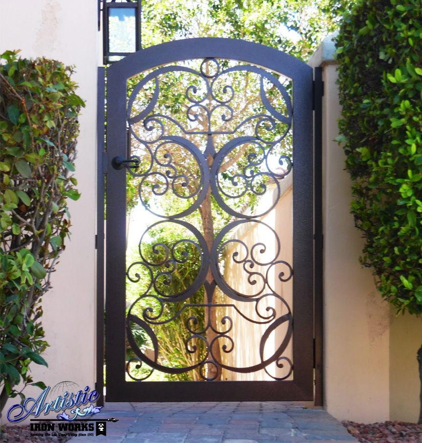 Decorative Wrought Iron Side Gate - SG0066B