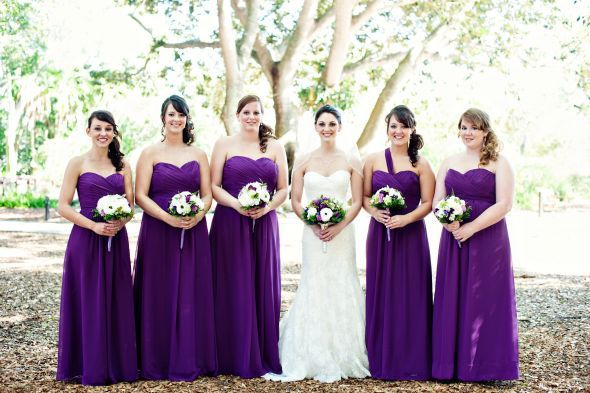 Crazy Purple Bridesmaid Dresses