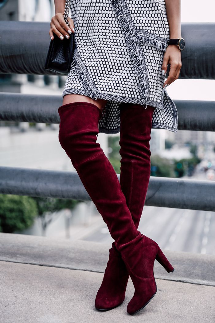 0af2860ac95 VivaLuxury - Fashion Blog by Annabelle Fleur  Stuart Weitzman Suede  Burgundy Boots FashionCognoscent.