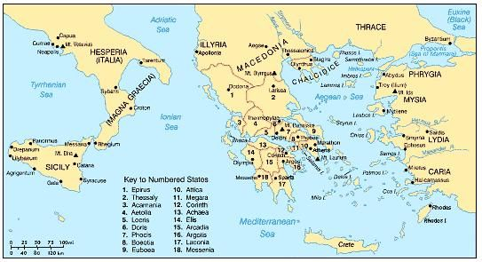 Greek City States Map | Park Map