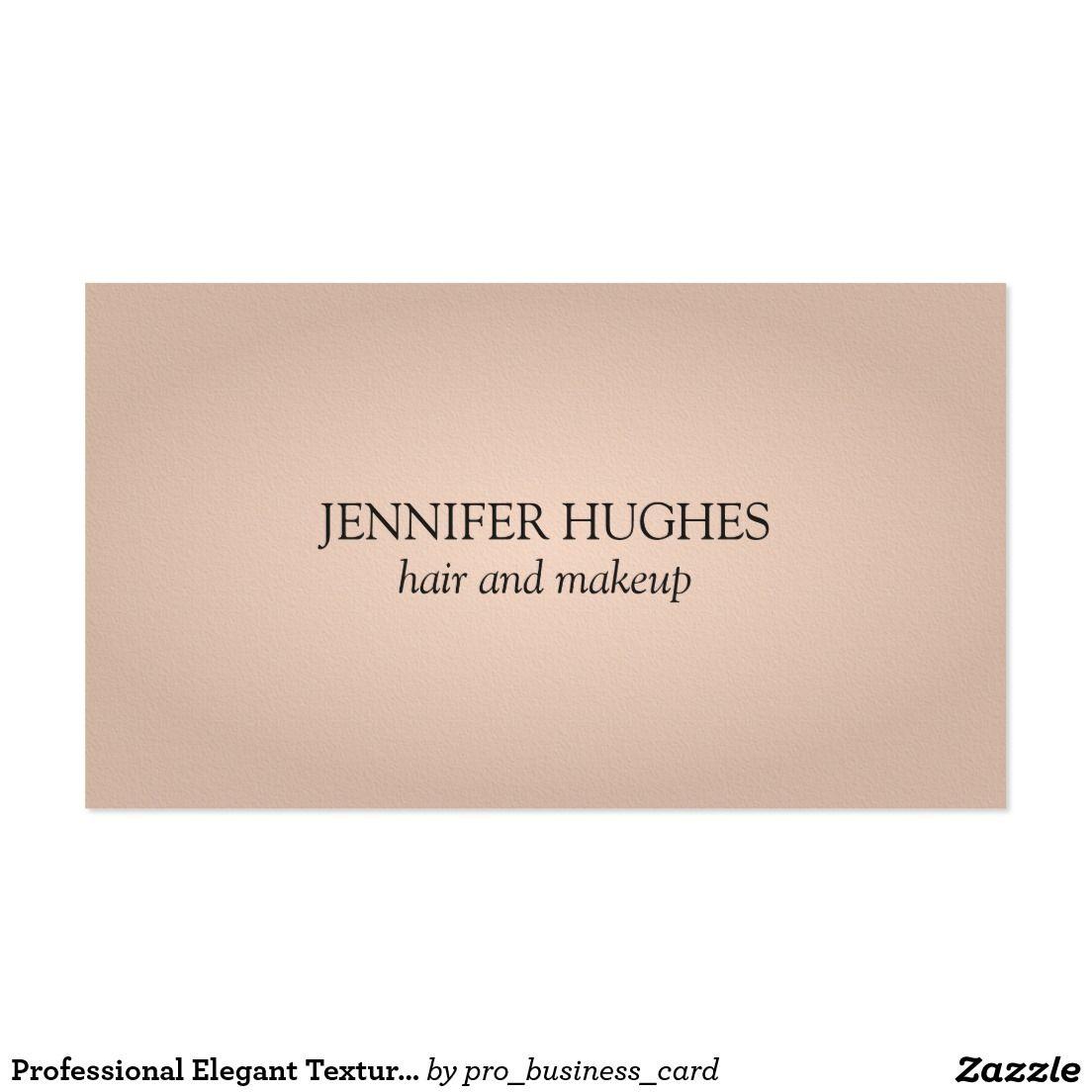 Professional Elegant Texture Rose Hair Makeup Business Card | Hair ...