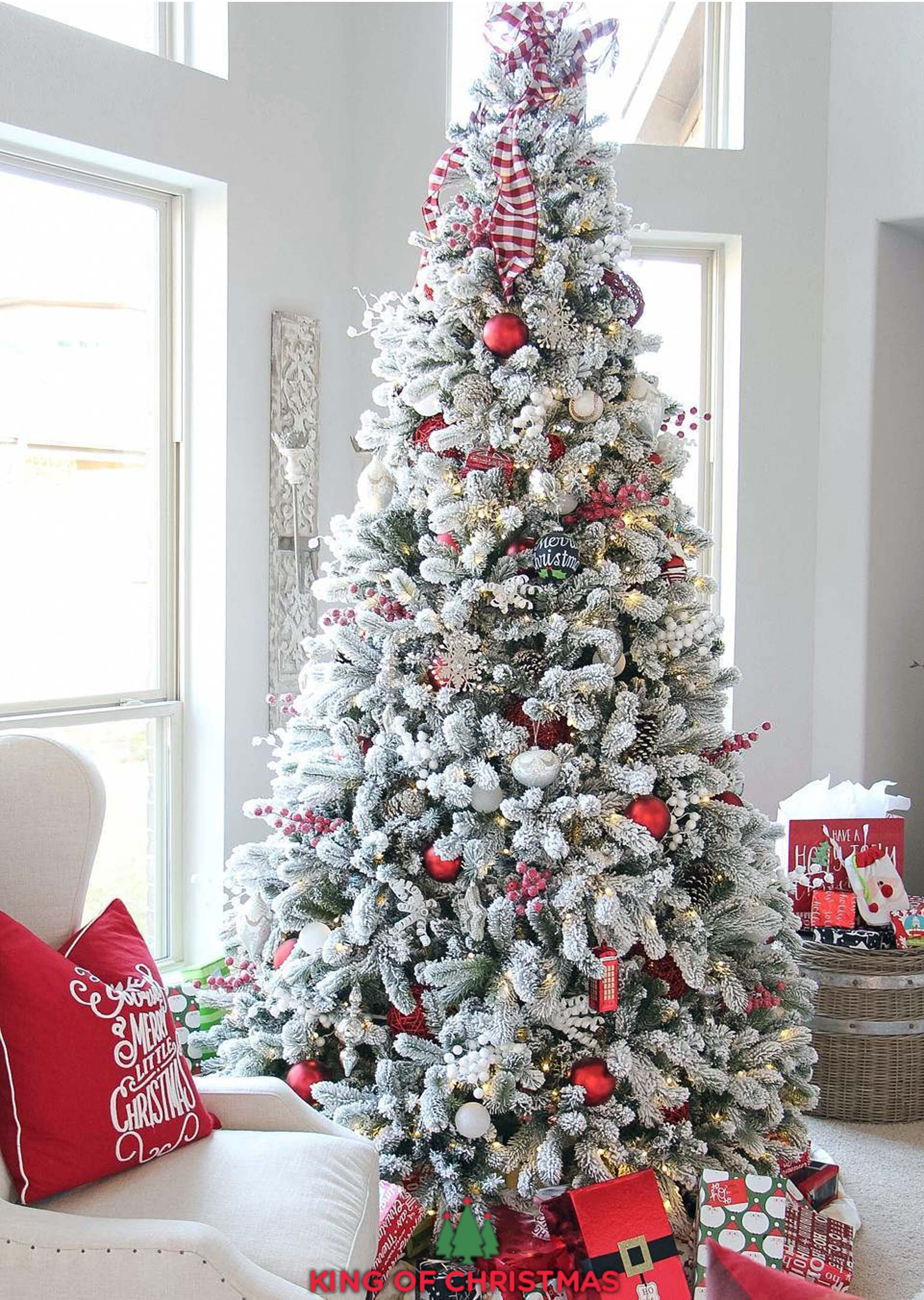 King Of Christmas Highest Quality Artificial Christmas Trees Realistic Christmas Trees Frosted Christmas Tree Flocked Christmas Trees