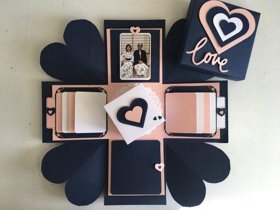 Liebe Explosion Box / Love Explosion Box / Überraschung explodierenden Kisten-Karte / Hochzeitsgeschenk / Geschenk / Valentinstag Geschenk / Geburtstagsgeschenk