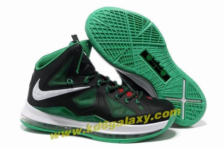 new product eaa7a 49823 Nike Lebron X (10) Black Green White Style 541100 300 Hot