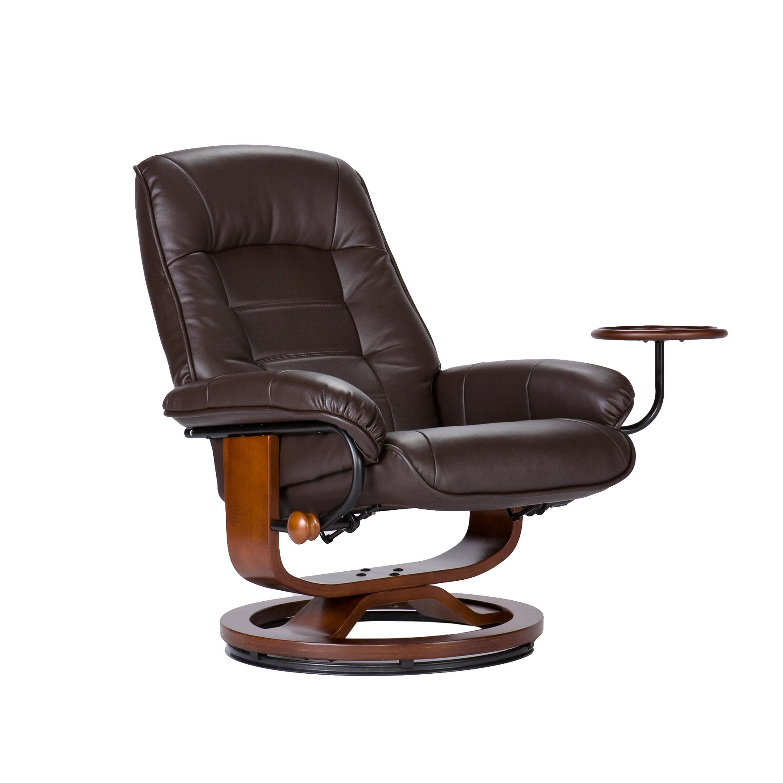 Amazon.com   Southern Enterprises Leather Recliner With Side Table And  Ottoman, Cafe Brown   Stressless Chairs