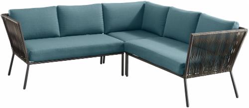 Enjoyable Shop For Dip Montego Sectional Set Dark Brown Blue At Inzonedesignstudio Interior Chair Design Inzonedesignstudiocom