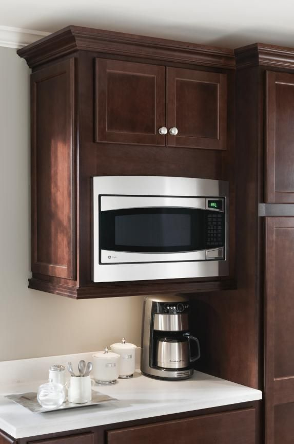 Homecrest Microwave Cabinet Keep Counters Clear With A Wall Built In Designed