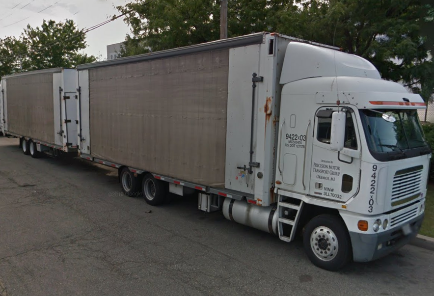 Freightliner Curtain Side Car Transporter And Trailer