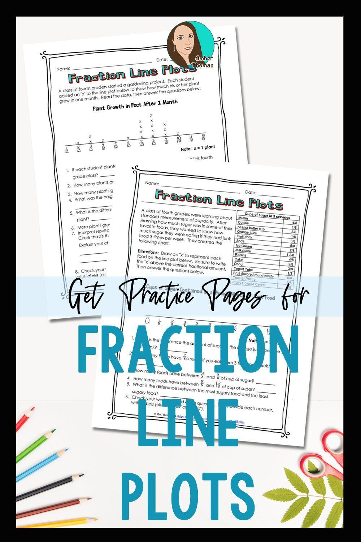 Fraction Line Plot Worksheets Elementary Math Lessons Line Plot Worksheets Math Words [ 1500 x 1000 Pixel ]