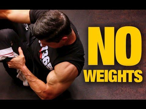 bodyweight home arms workout no weights needed  arm