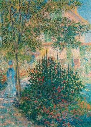 Camille monet in the garden at argenteuil 1876 monet - Jardin paysager contemporain argenteuil ...