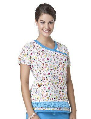 3ac619268d4 Tafford Uniforms - Mary Engelbreit Circle Of Friends Feminine Detail Scrub  Top
