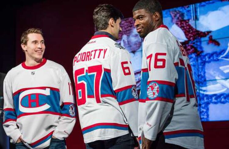 huge discount ba53b 1a97f The 2016 Winter Classic Jerseys. Brendan Gallagher, Max ...