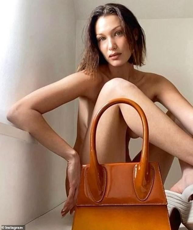 Yolanda Foster poses nearly nude to showcase breast