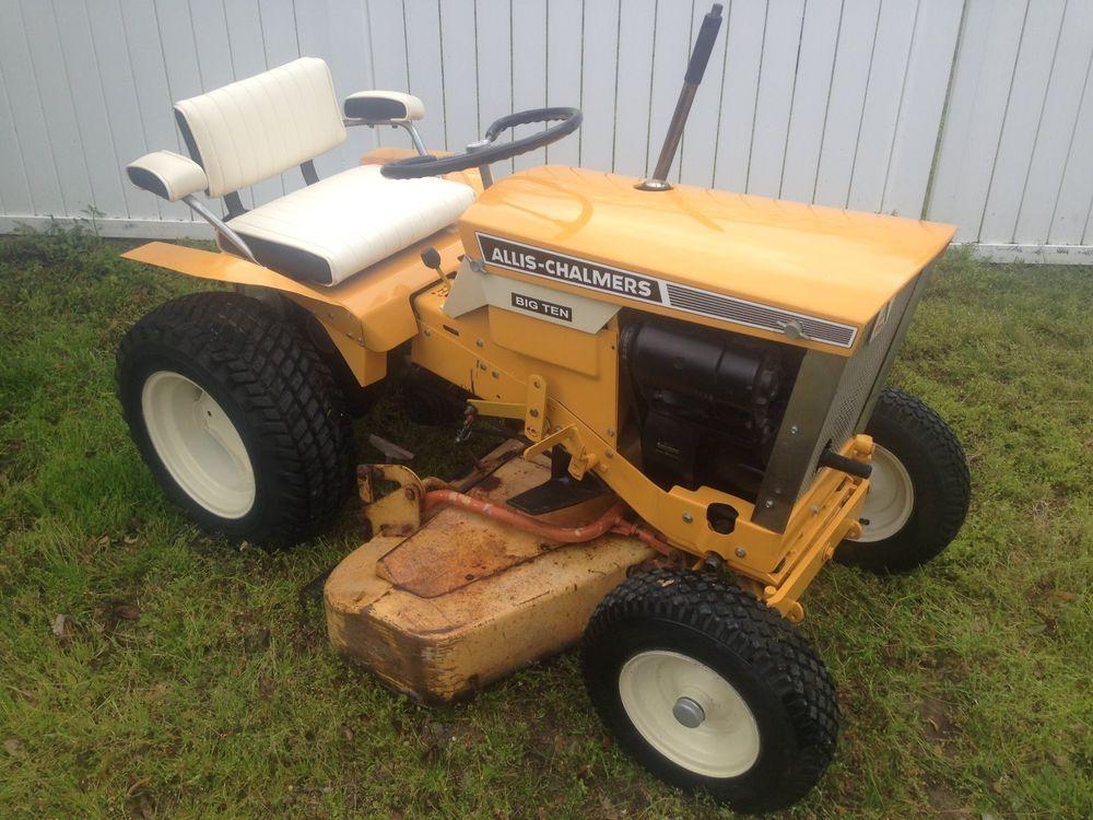 Allis Chalmers Garden Tractors : Allis chalmers big ten lawn garden tractor relisted
