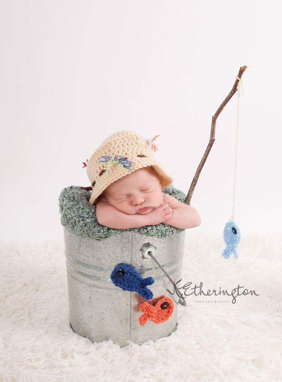Fisherman Hat   Baby Boy Fisherman Set   Newborn Fisherman Hat   Baby  Fisherman Hat   Baby Fishing d944c55b46e