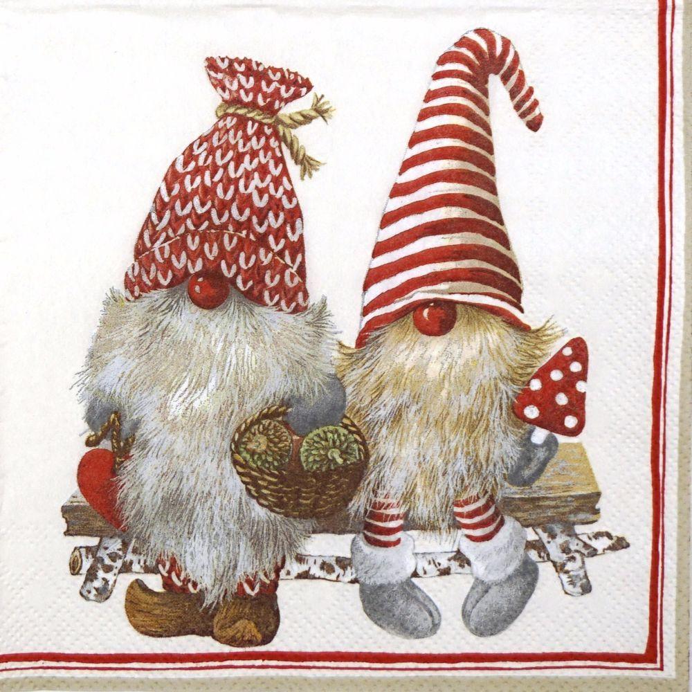 4x Paper Napkins for Decoupage Decopatch Fabulous Christmas