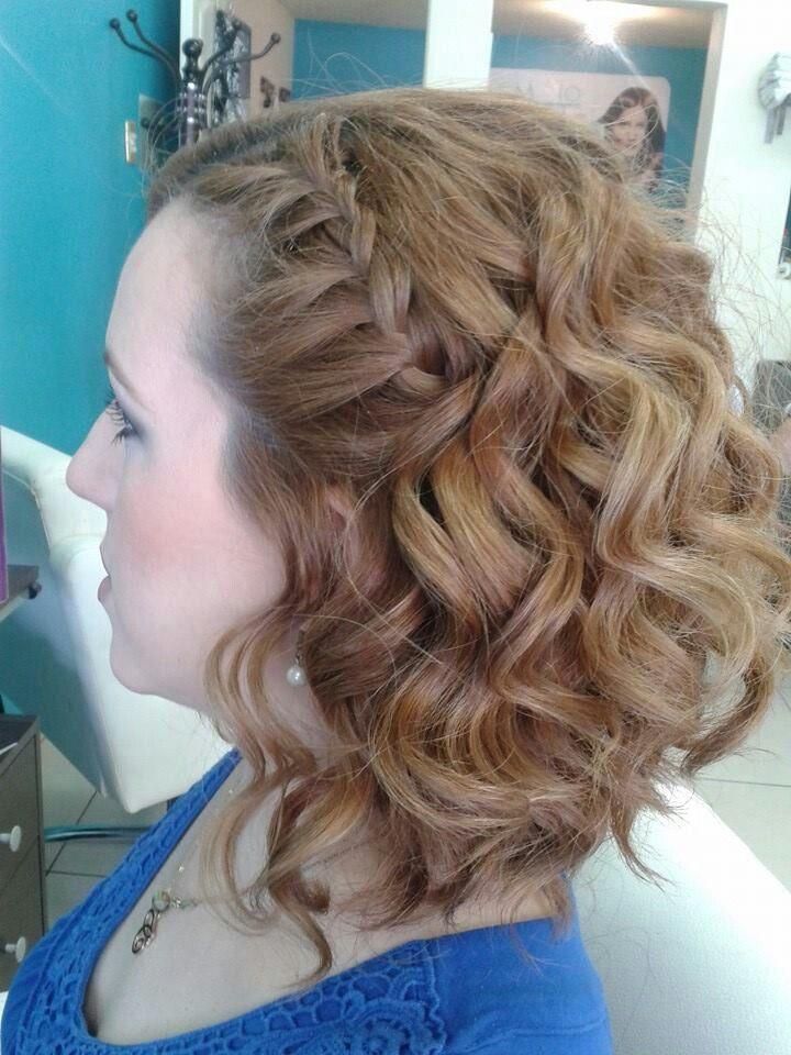 Peinado ondas con trenza de lado lassio salon make up pinterest trenzas de lado ondas y - Peinado con trenza ...