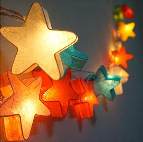 Every papierlampe f r kinderzimmer 3m 20er laternen bunt weihnachtsbeleuchtung kinderzimmer - Papierlampe kinderzimmer ...