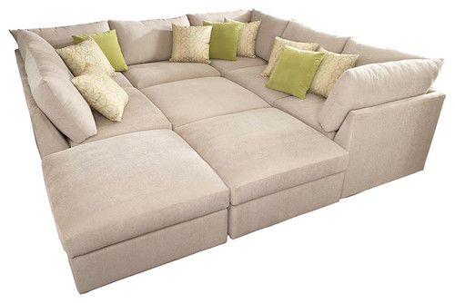 Absolutely Massive But Looks So Comfy We Never Sit On Our Couch Anyway So Why Not Get A Couc Contemporary Sectional Sofa The Big Comfy Couch Pit Sectional