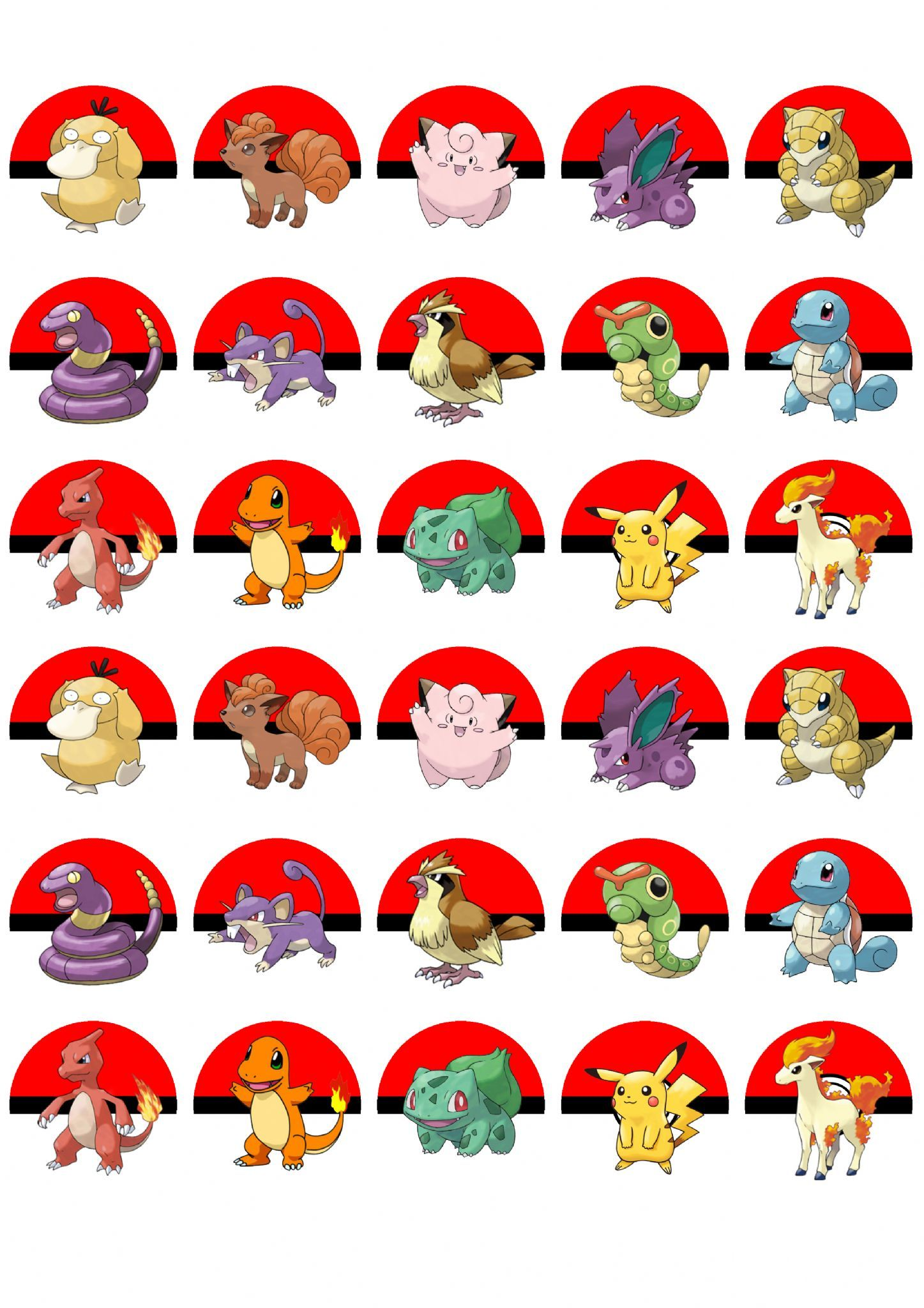Pokemon Edible Cupcake Muffin Toppers Pack Of  These Toppers Are Ideal For Parties And Are Completely Edible And Look Fantastic The Toppers Are