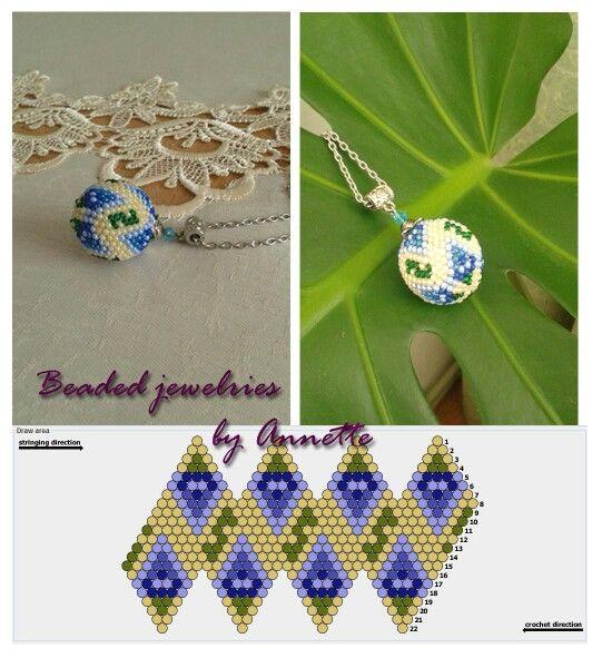 Lavender ball                   Designed by Annette / Авторська схема Анни Верлатої