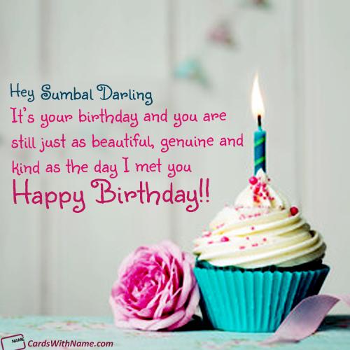Tremendous Sumbal Darling Name Card Hering Funny Birthday Cards Online Elaedamsfinfo