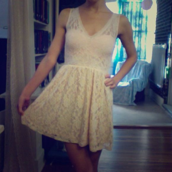 Nwt Forever 21 Pink Lace Dress