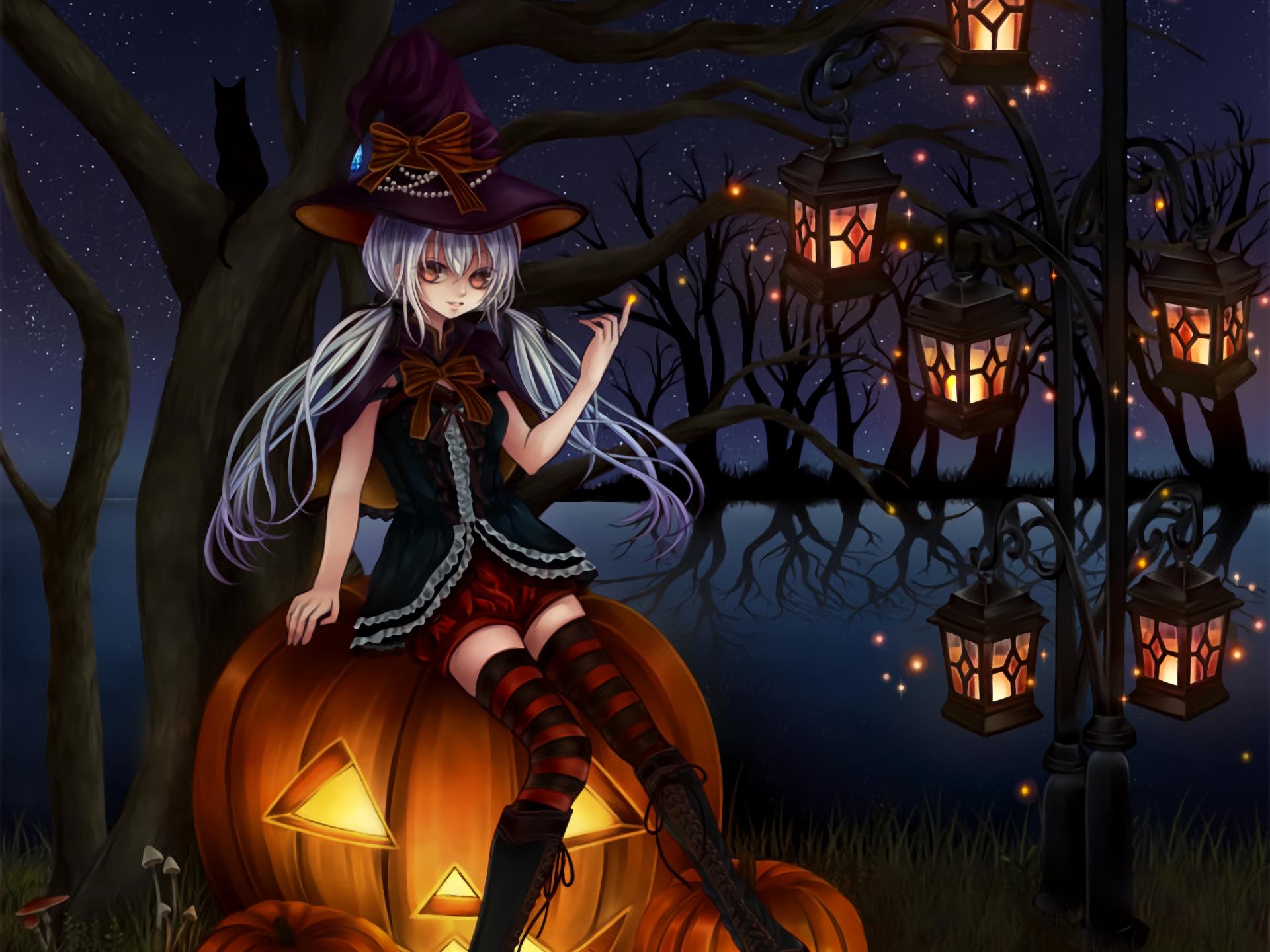 Halloween Anime Hd Wallpaper 2020 Live Wallpaper Hd Anime Halloween Halloween Desktop Wallpaper Halloween Digital Art