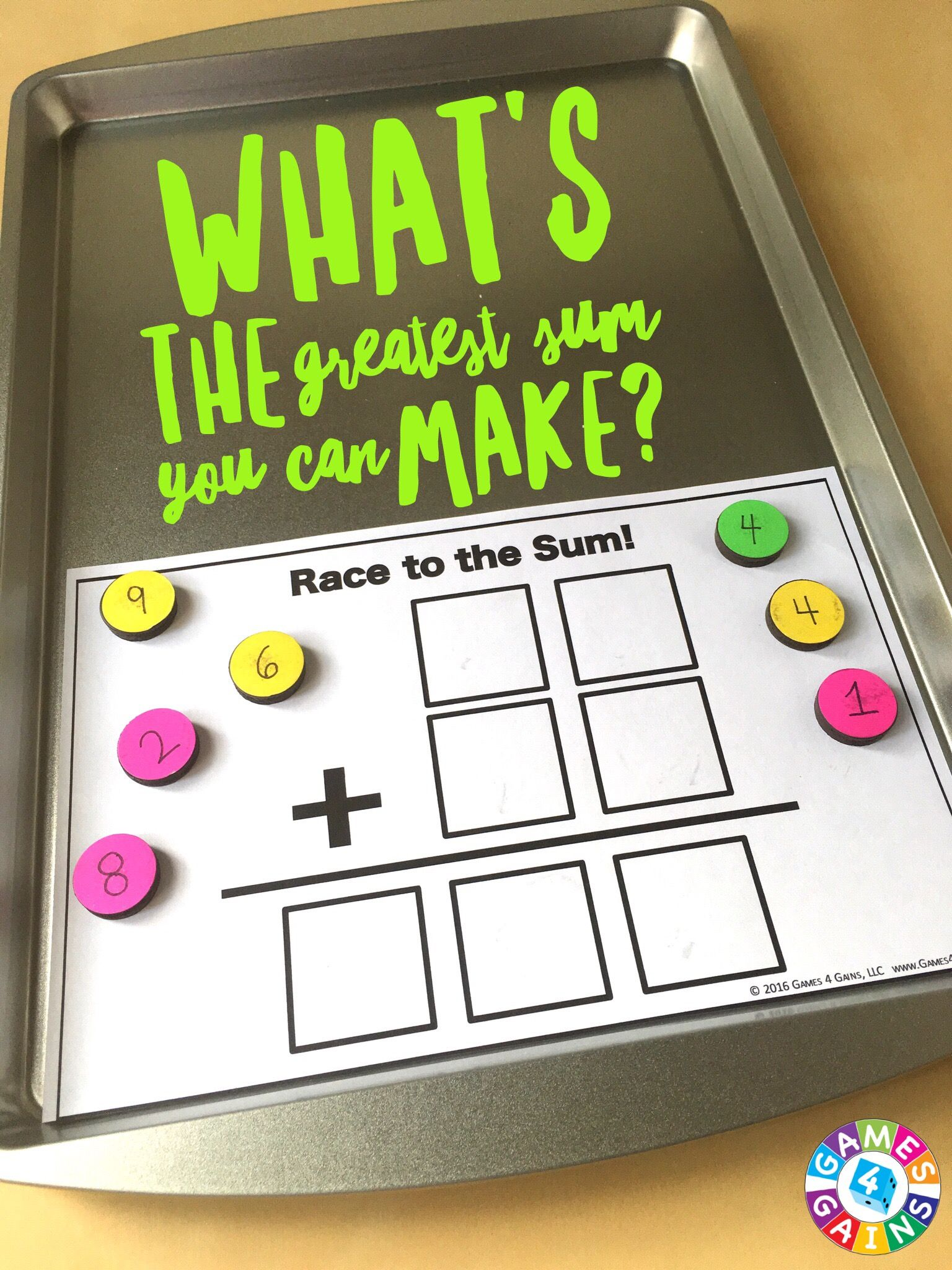 Race to the Sum: A Multi-Digit Addition Game | Thinking skills, Math ...