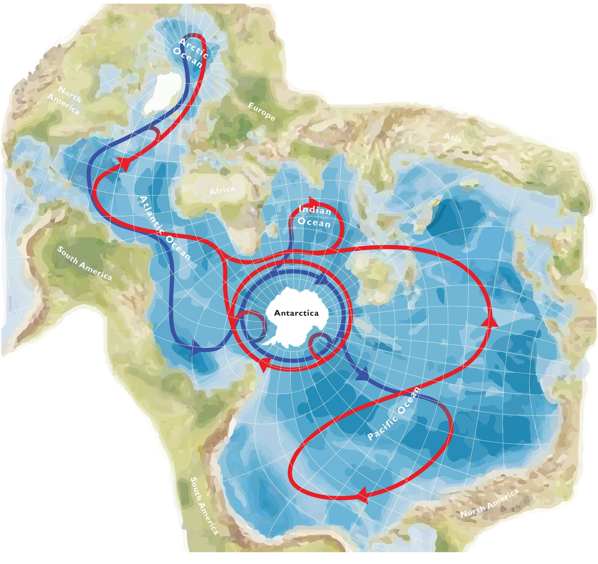 Global Ocean Circulation On A Spilhaus Projection By