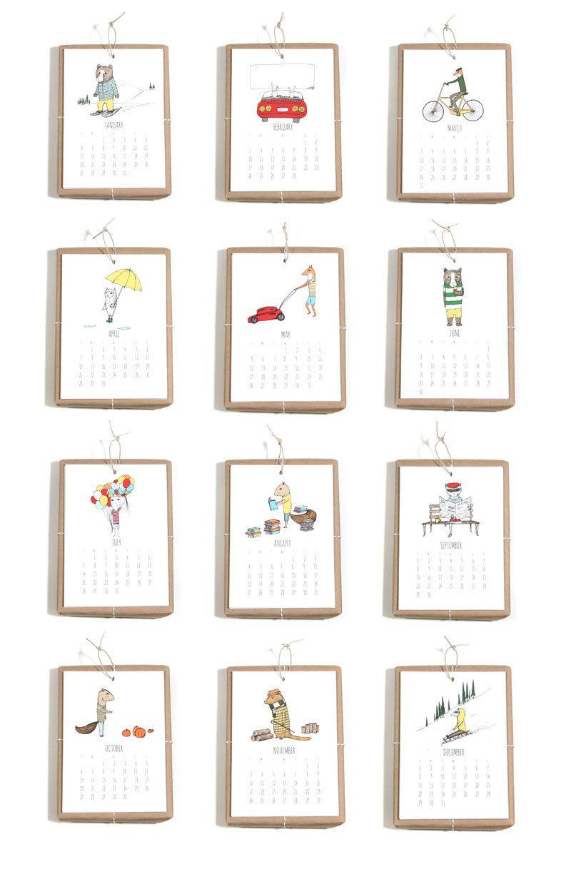 2020 Calendar Jaunty Animals By Hello Small World Desk Calendar