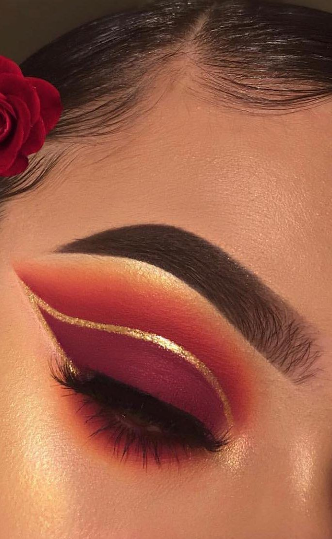 DIY Augen Make-up Funkelnde Magie Gold Glitter #eyemakeup