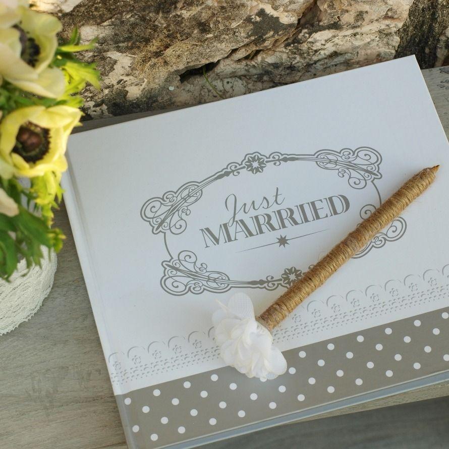 stylo avec fleur blanche original pour mariage vintage et. Black Bedroom Furniture Sets. Home Design Ideas