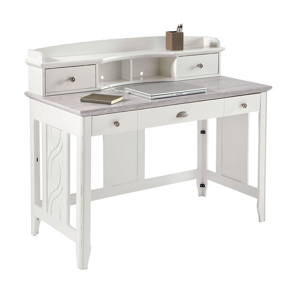see jane work kate writing desk 30 h x 47 14 w x 23 58 d white by office depot u0026 officemax office pinterest office depot writing desk and desks