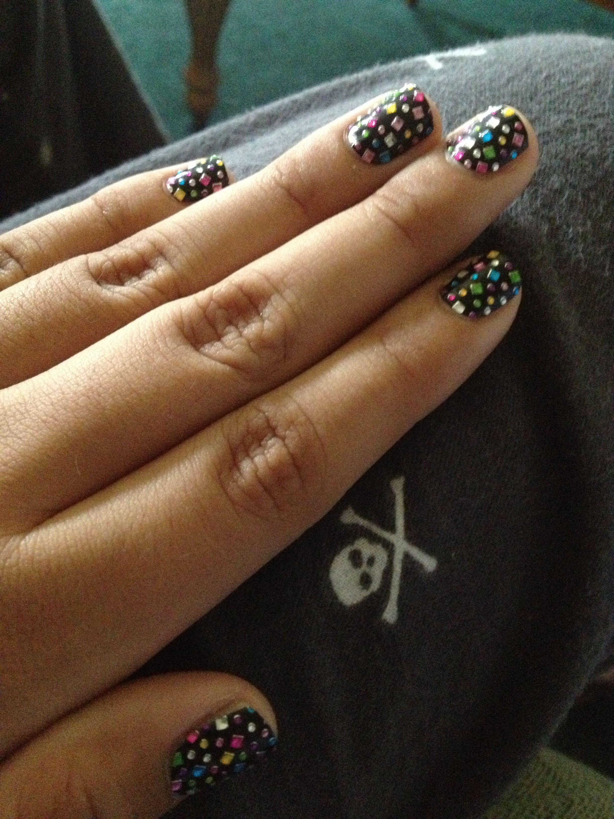 Glitter over black