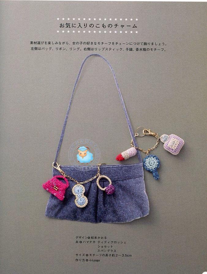 Kawaii Crochet Charms Accessories Japanese Crochet Patterns Book