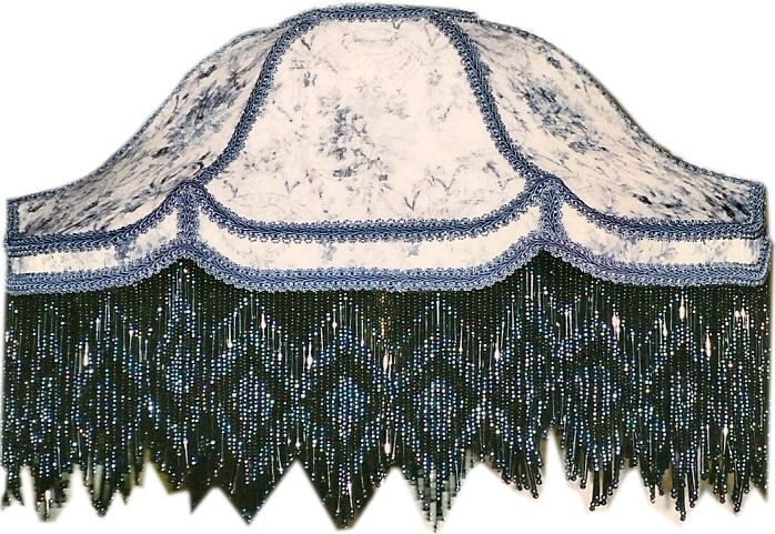 victorian lamp glass fringe | Enchanting Victorian Lampshades - Medium Lamp Shade