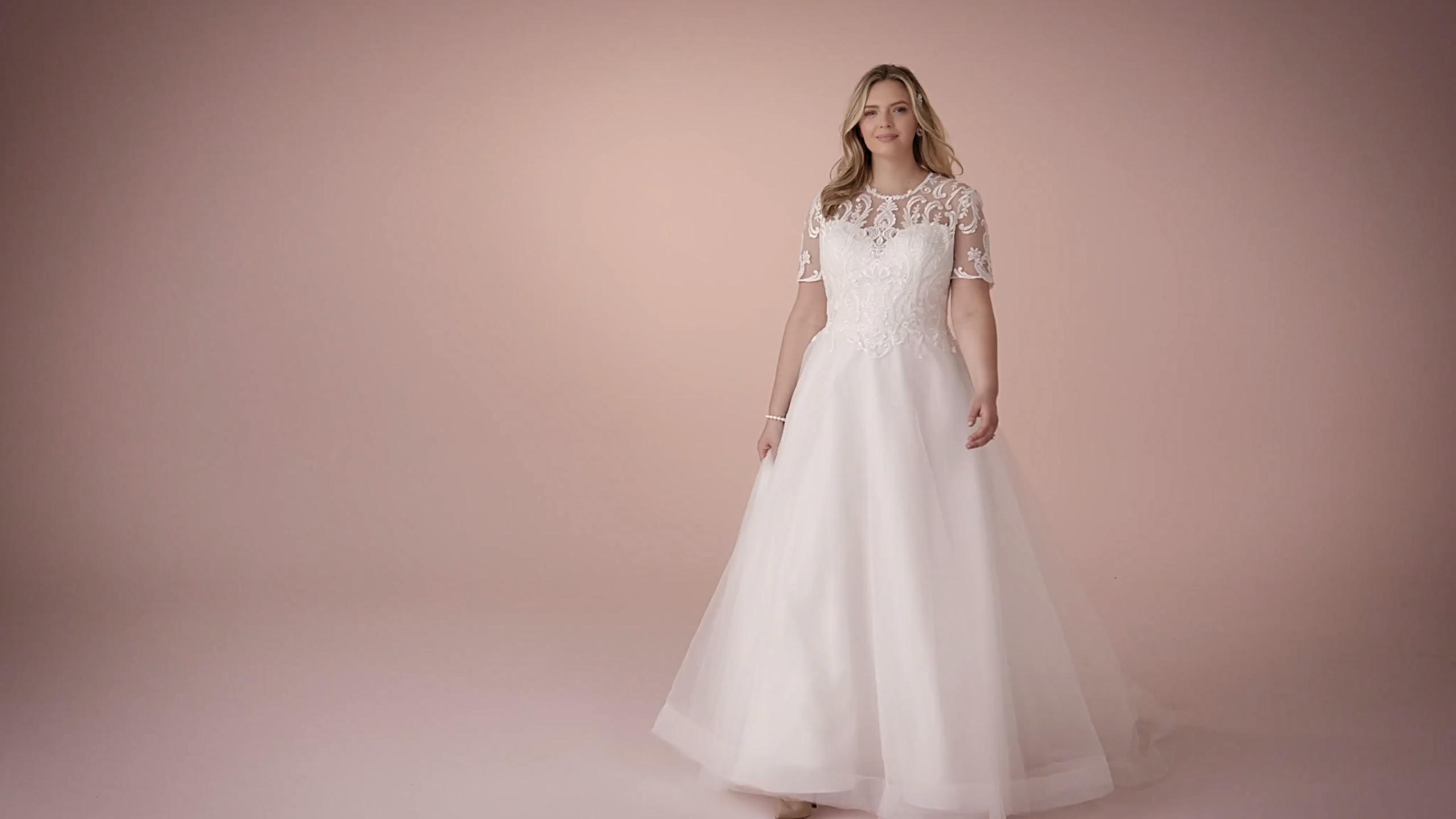 A Princess Wedding Dress With Elegant Details, This Slim A