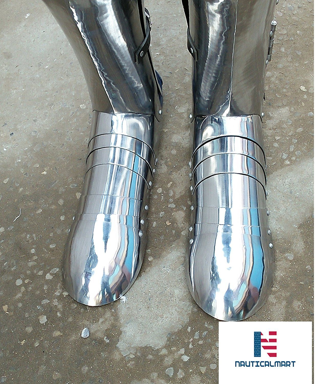 eed60ce8a96ac Nauticalmart Plate Armour medieval SCA Armour stainless Shoes ...