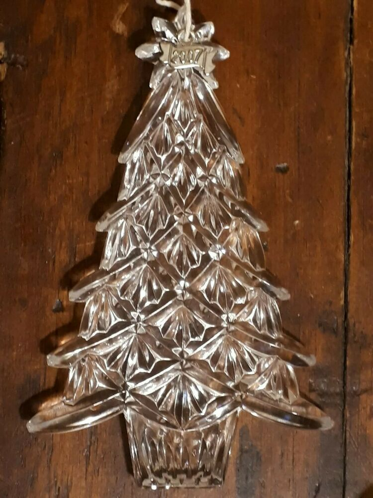 Large Waterford Crystal 2007 Christmas Tree Ornament Made