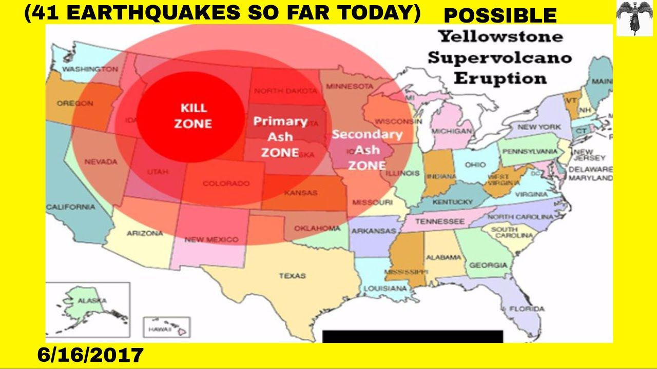 Yellowstone Warning Major Activity 41 Earthquakes Today And The Day